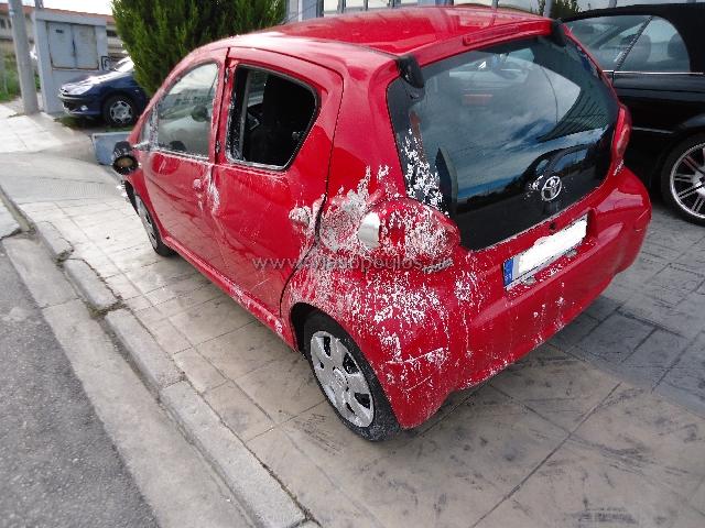Εργασίες Φανοποιϊας και βαφής ΙΧ Toyota Aygo - πριν