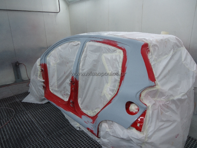 Ολική βαφή αυτοκινήτου Toyota Aygo στον Φούρνο - Βλασόπουλος Γέρακας