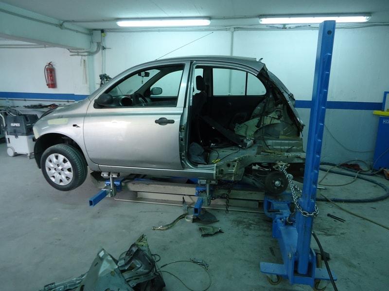 επισκευή τρακαρισμένου Nissan Micra